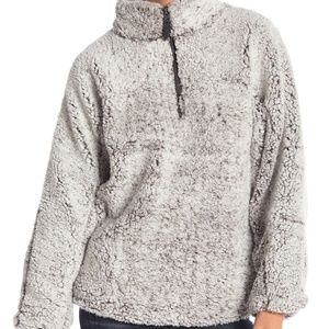 Elodie Half Zip Faux Shearling Pullover Size M